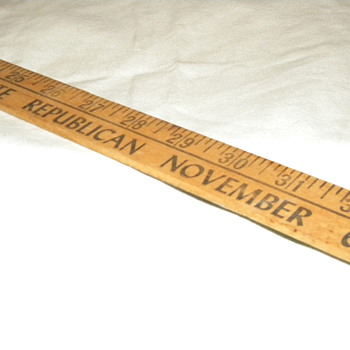 "1962 ""L. William Seidman For Auditor General"" Political Yardstick  - Advertising"