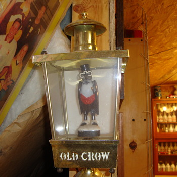 Old Crow Lighted Lantern.........
