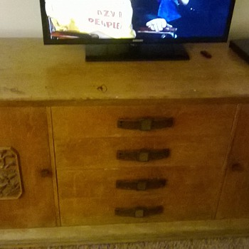 antique solid walnut dresser