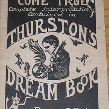 Original 1927 Howard Thurston Thurston's Dream Book - Books