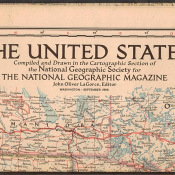 1956 - United States Wall Map - Paper
