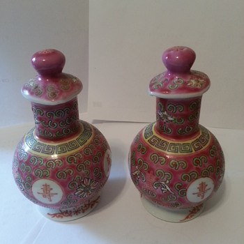 Asian vinegar and oil set