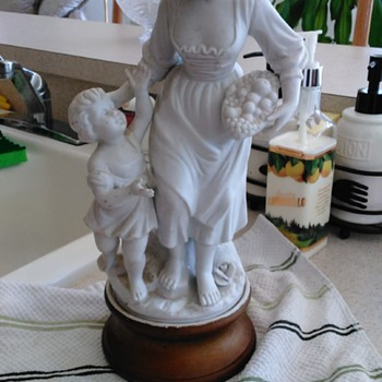 Unknown statue.....found at auction. Cute