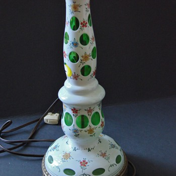 MYSTERY FLORAL COIN DOT LAMP BASE