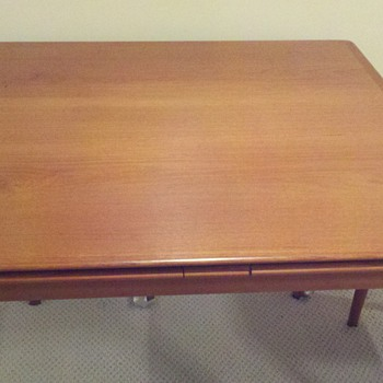Mid Century Danish Dining or Card Table with four Chairs