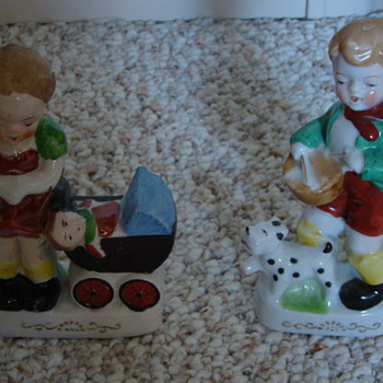 Boy and girl figurine set - Art Pottery
