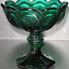 Green Compote Glass