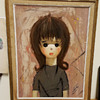 Large eyed Girl original 1960's Painting.