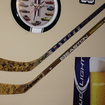 Signed Hockey Sticks