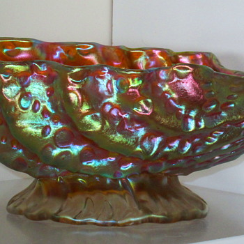 Loetz: Diaspora Candia c1905 Shell Bowl - Art Glass