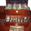 Apothecary traveling cabinet