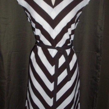 Early 60&#039;s Chevron stripe dress. (for BeauxP :) - Womens Clothing