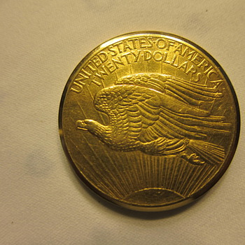 Baume &amp; Mercier  Gold Coin Watch; 1908 St. Gaudens Double Eagle