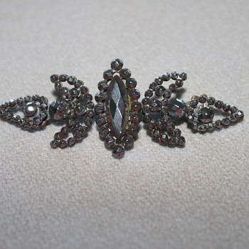 Cut Steel Victorian Brooch