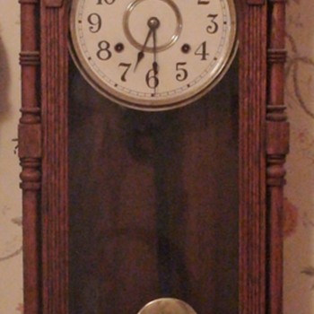 """Queen Elizabeth"" Wall Clock Ansonia 1890"