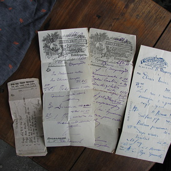Three Medical Prescriptions from the 30s - Paper