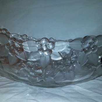Vintage Mikasa Carmen Pattern Crystal Bowl From West Germany... - Art Glass