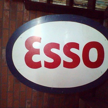 Large Esso oval sign have 2