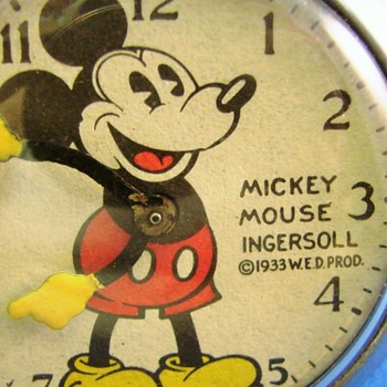Al Horen Mickey Mouse Pocket Watch - Pocket Watches