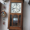 Antique 1920's German HAC chiming wall clock.