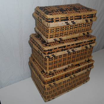NESTING BASKETS (AFRICAN? NATIVE AMERICAN?)