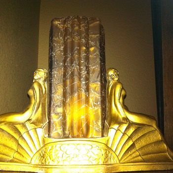 Art deco lamp-old reproduction?