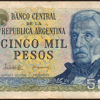 Argentina - (5000) Pesos Bank Note