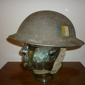 British WWII combat helmet. Royal army service corps.