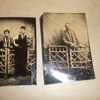 Wood prop fence tintypes