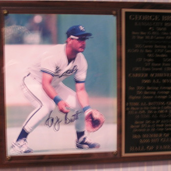 George Brett Autographed Photo - Baseball
