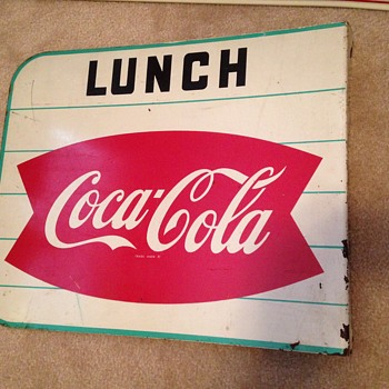 1960's Coca-Cola Fishtail Flange Sign