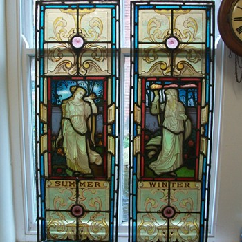 Stain Glass windows circa 1870 - Art Glass