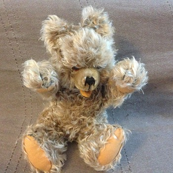 "Hermann Original Teddy Bear 14"" Zotty Mohair Jointed Neck Arms - Dolls"