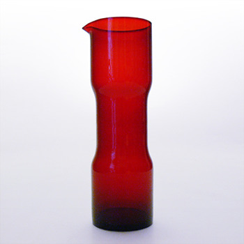 Red jug, unknow designer (Alvesta Glasbruk, 1950s)