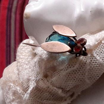 1940s cicada stick pin
