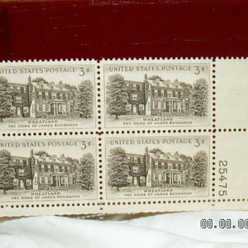1954 Wheatland The Home of James Buchanan 3¢ Stamp