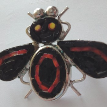 40-50s Mosaic bee brooch