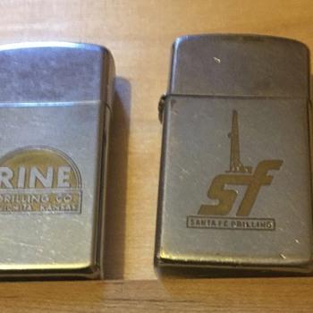 Two vintage oilfield lighters  - Petroliana