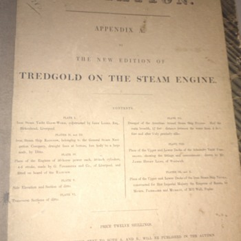 Ultra Rare Tredgold on the Steam Engine