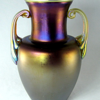 Loetz Amethyst Matt Iris with Silberiris Handles - Art Glass