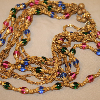 Miriam Haskell Goregous Necklace - Costume Jewelry