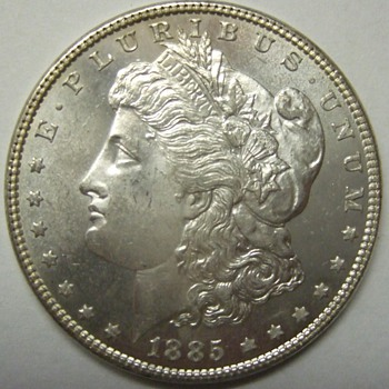 1885 MS-63 Proof-Like Morgan Silver Dollar - US Coins