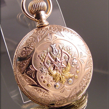 Hampden Multi-Color Hunt Case Pocket Watch - Pocket Watches