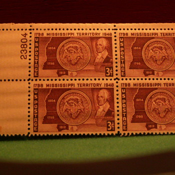 1948 Mississippi Territory 3¢ Stamps - Stamps
