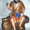 Asian porcelain pottery figure signed