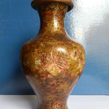Vase bronze loisonné enamel