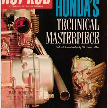 "1966 - ""Honda 450 Parellel Twin Engine"" Sales Supplement - Paper"