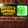 Bailey's supreme coffee neon clock