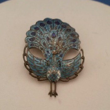 My New Found... Siam Sterling Silver Peacock Brooch