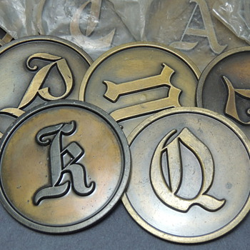 Help with these old brass letters???